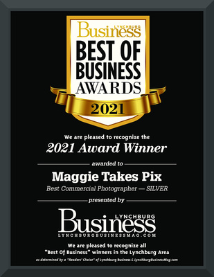 Lynchburg Business Magazine Best of Business Awards 2021 Silver Award for Best Commercial Photographer