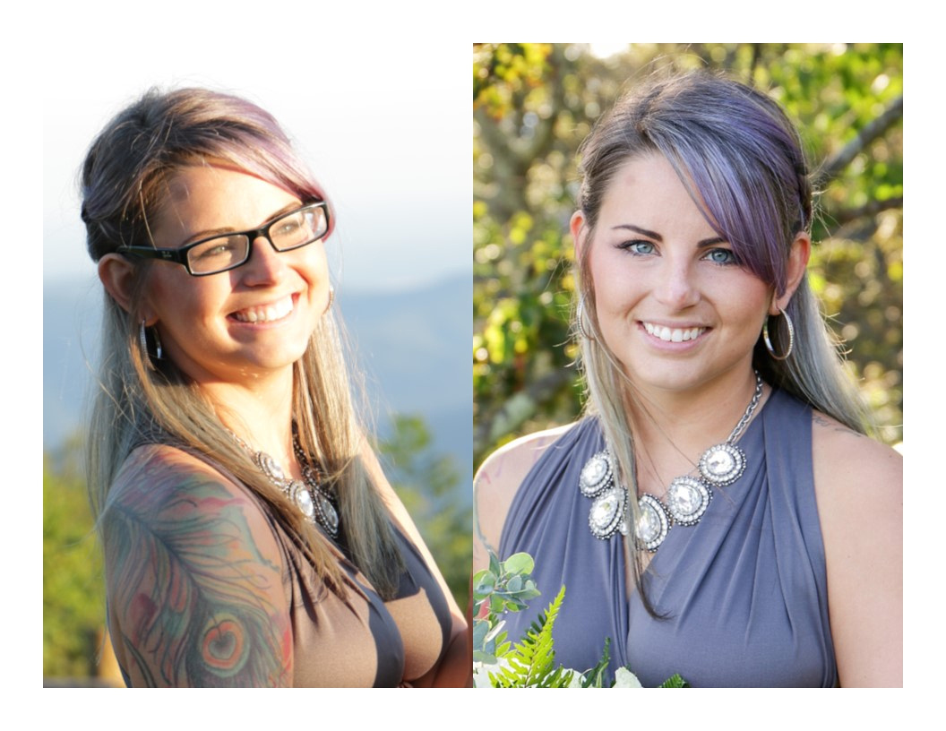 Amateur vs Professional beautiful woman